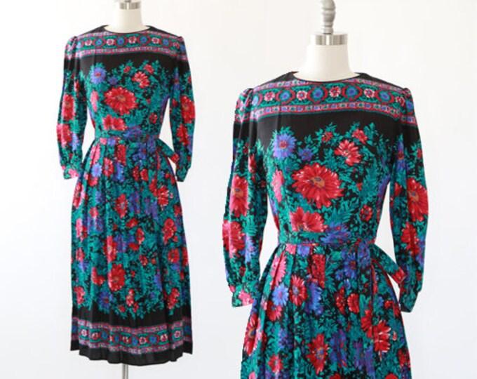 Lanz floral dress | vintage 70s 80s floral dress