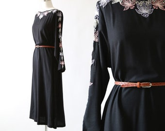 Lotus Bali crochet Dress | Bali Cutwork Floral Lace long sleeve Sundress