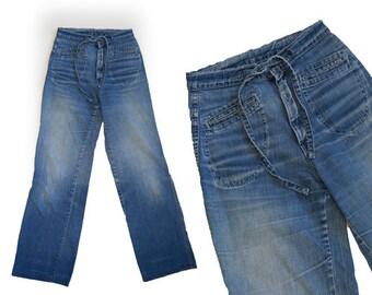 Vintage 1970s M jeans wide leg jeans W25 L32 1/2