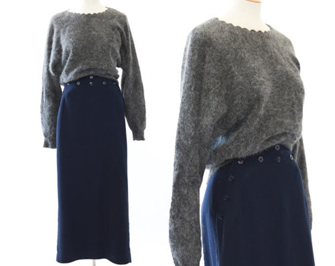 Dolman angora knit sweater