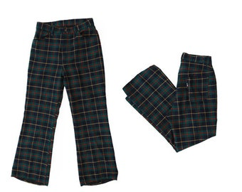 Vintage 70s BIG E Levis Plaid pants | Levis' for Gals woven plaid pants W30