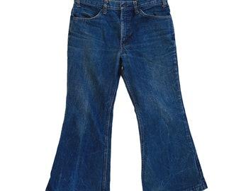 Levis bell Bottoms | Vintage 1970s LEVIS jeans orange tab denim bell bottom W32 L27