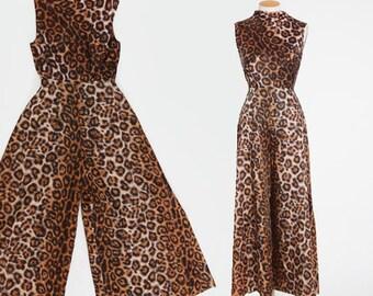 Alice Leopard print jumpsuit | vintage 60s leopard print jumpsuit | Alice Polynesian leopard jumpsuit