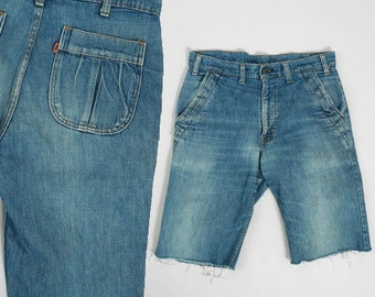 Levis cut off jeans | Vintage 70s orange tab Levis blue jeans shorts USA