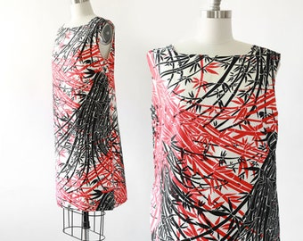 Bamboo Dress | Vintage 60s MOD abstract dress