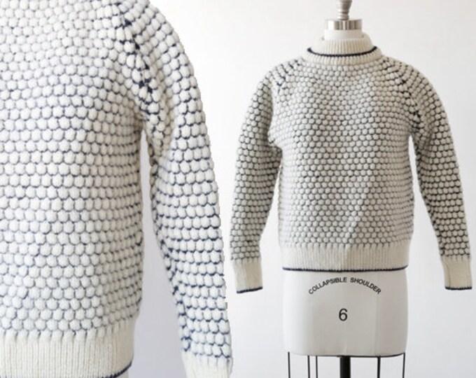 McRitchie of Edinburgh wool sweater | Vintage 60s wool scallop knit sweater | Chunky knit sweater