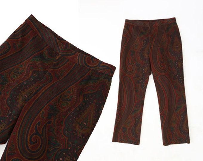 Lauren Ralph Lauren velvet paisley slacks