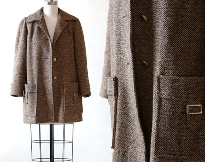 60s tweed Wool Coat