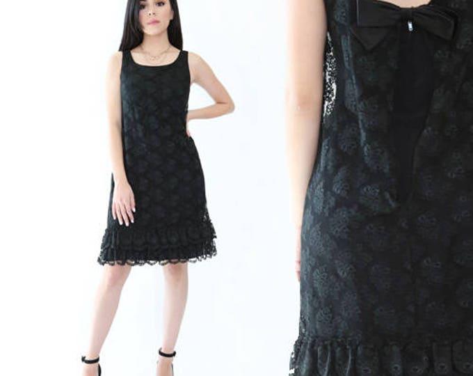 Vintage 60s floral lace dress