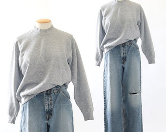 Vtg 80s gray sweatshirt