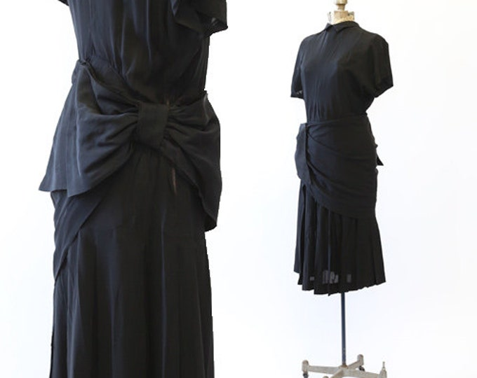 Grand Arc dress | Vintage 40s BOW cocktail dress | Vintage 40s dress