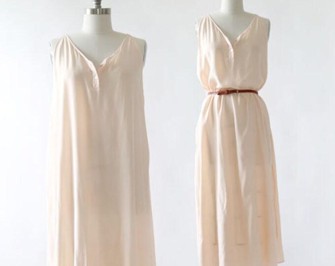 Blush Silk dress | Vintage 90s silk Maxi dress