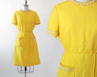 Carlye Linen dress   Vintage 60s Moygashel Linen studded dress   1960s Sibonne woven linen MOD dress