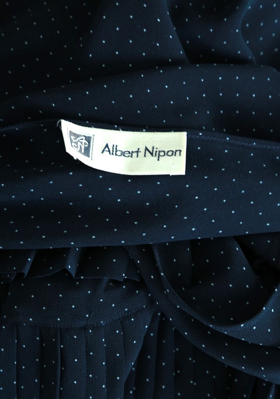 ALBERT NIPON polka dot dress | Vintage 80s Albert… - image 2