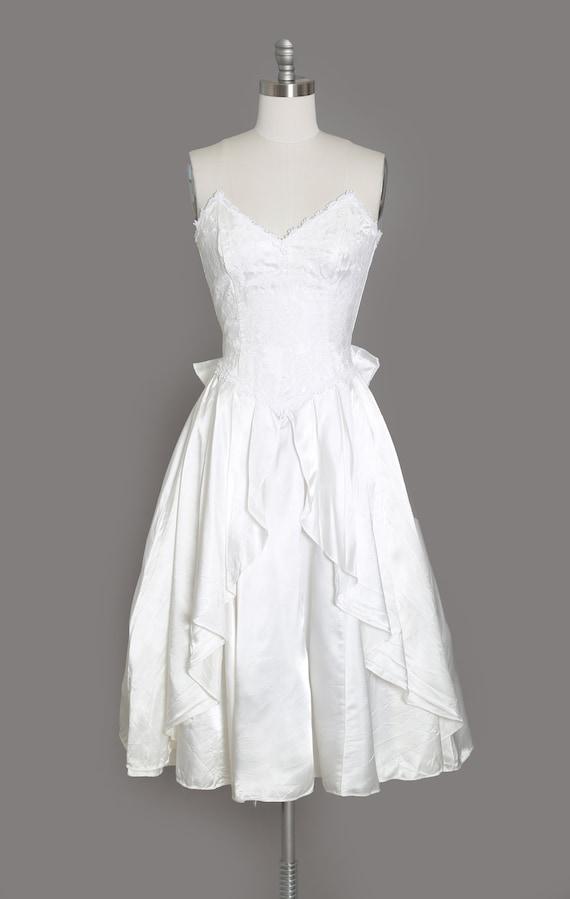 Gunne Sax Wedding Dress   Vintage 80s sweetheart … - image 2