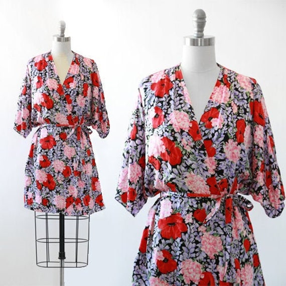 Silk floral robe | wedding robe | Bridesmaid robe