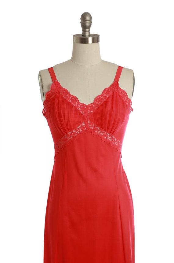 Bias cut slip dress   Vintage 40s 50s Hot pink sl… - image 3