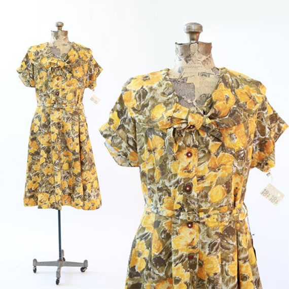Mays floral dress | Vintage 50s 60s Deadstock flor