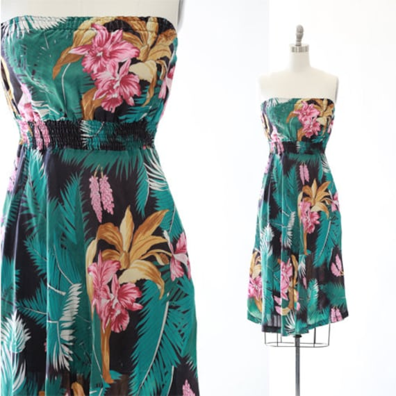Sherry Holt tropical dress | Vintage 70s Hawaiian