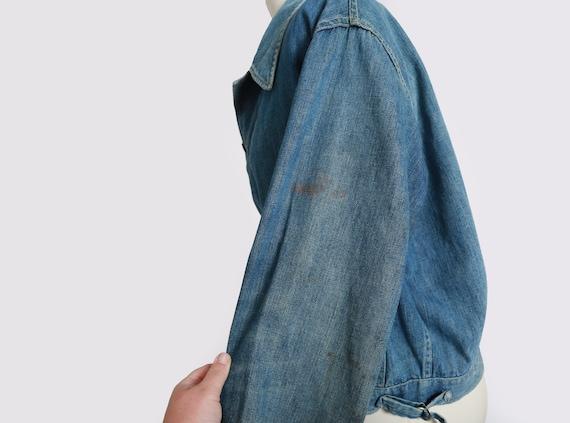 40s jean jacket | vintage 40s denim jacket | 1940… - image 7