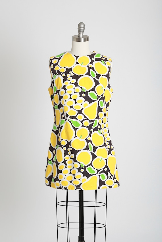 Fruit mini dress | Vintage 60s MOD fruit dress | … - image 2