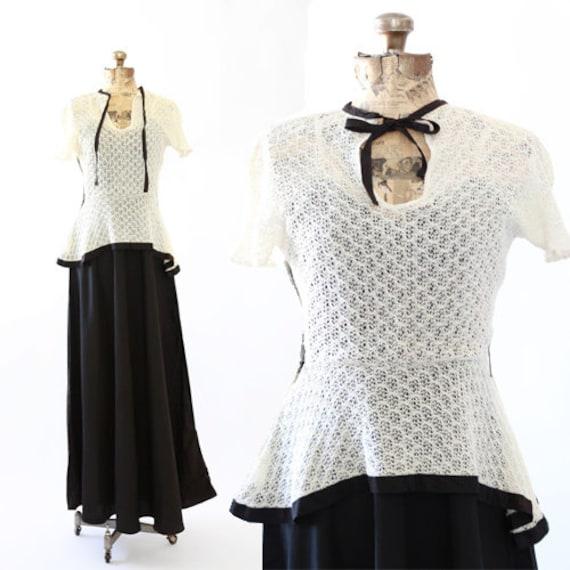Bonjour crochet dress | 1930s crochet dress | vint