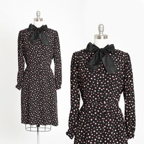 Cosmos silk dress | Vintage 80s silk star dress |