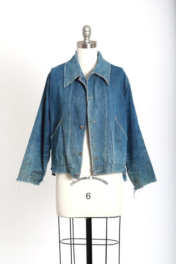 40s jean jacket | vintage 40s denim jacket | 1940… - image 2