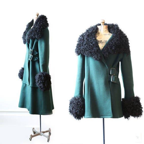 Mongolian fur coat | Vintage 60s Tibetan Curl Lamb