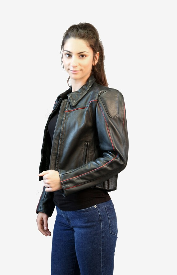 Motorcycle jacket | Vintage 80s Black Leather Mot… - image 8