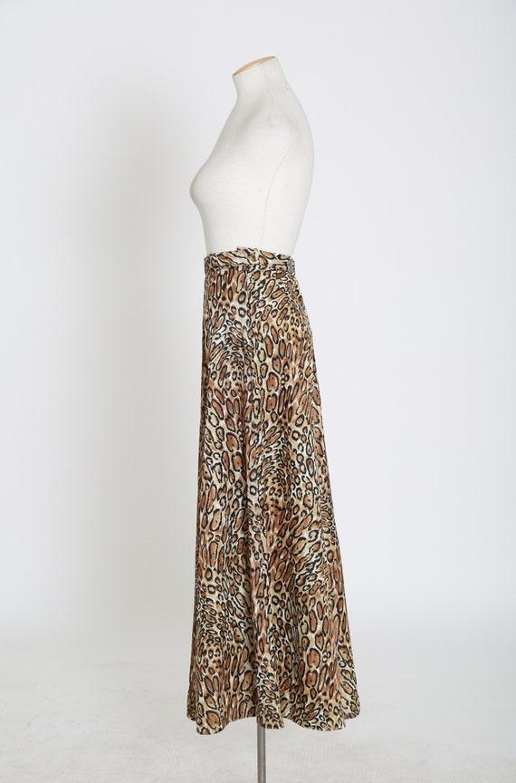 Vintage 60s 70s leopard print palazzo pants - image 8