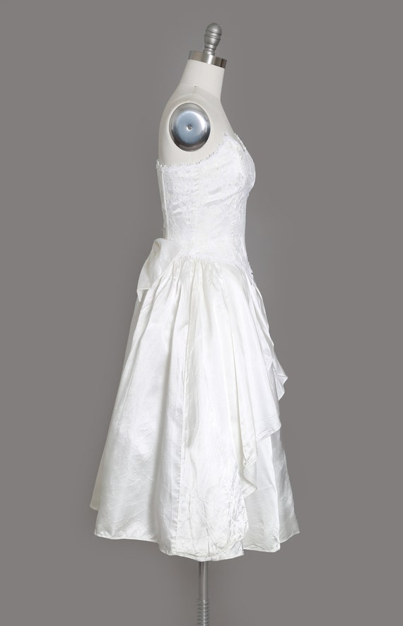 Gunne Sax Wedding Dress   Vintage 80s sweetheart … - image 4
