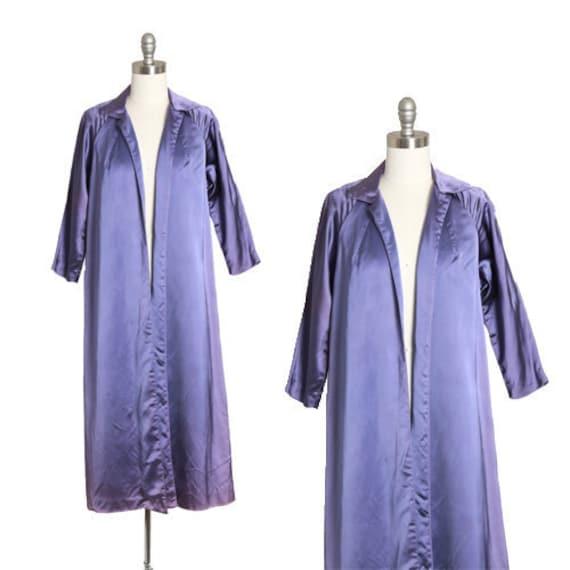 Vintage 50s purple satin Swing Opera coat