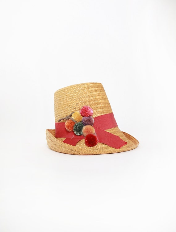 40s Gordon's Hamilton straw hat | Vintage 1940s Be