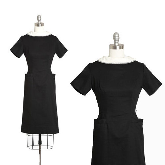 Teena Paige dress | Vintage 60s black + white cott