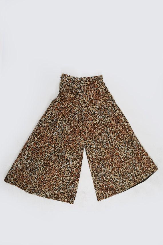 Vintage 60s 70s leopard print palazzo pants - image 4