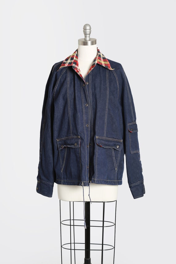 Indigo denim chore jacket | Vintage 70s jean jacke