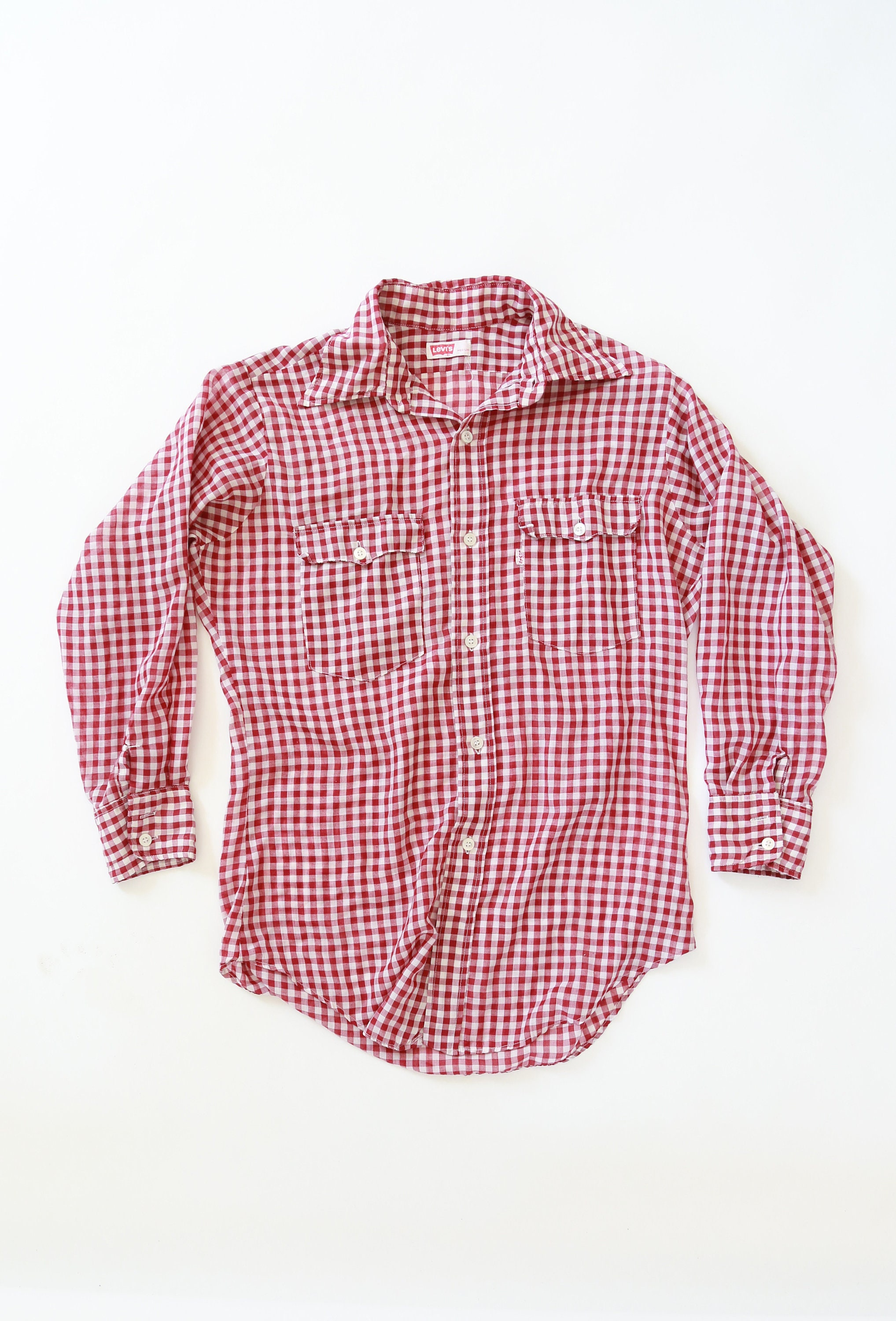 88fd553e2aa44 Levis Gingham shirt | Vintage 70s Levis Gingham Western red Work ...