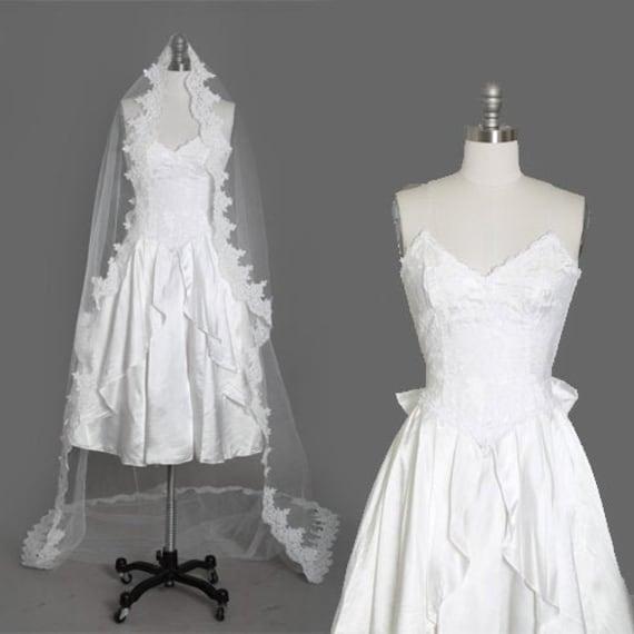 Gunne Sax Wedding Dress | Vintage 80s sweetheart l