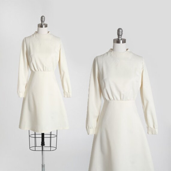 60s MOD mini wedding dress