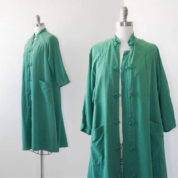 World traveler robe | Vintage 50s oriental silk ro