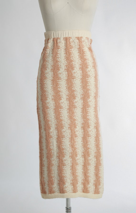 BABO Knit pencil skirt | Vintage 90s abstract kni… - image 3