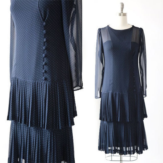 ALBERT NIPON polka dot dress | Vintage 80s Albert