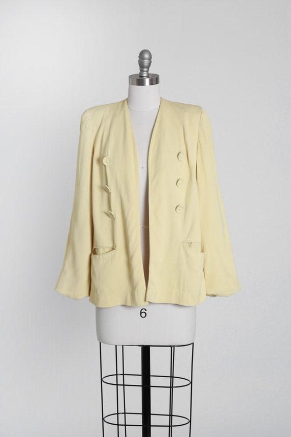 Jaune blazer | Vintage 40s pale yellow blazer | 19