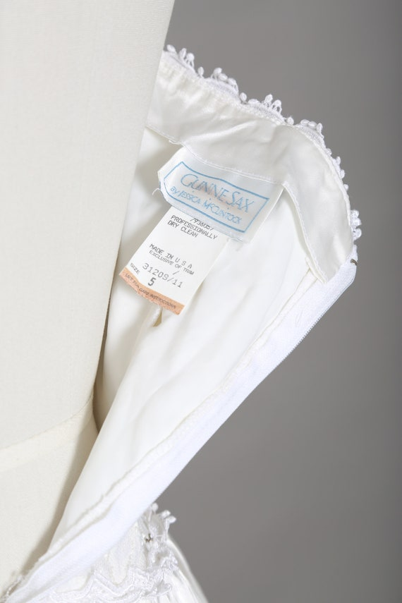 Gunne Sax Wedding Dress   Vintage 80s sweetheart … - image 9