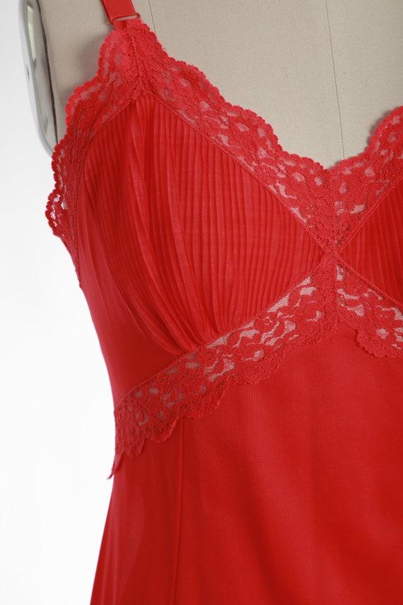 Bias cut slip dress   Vintage 40s 50s Hot pink sl… - image 4