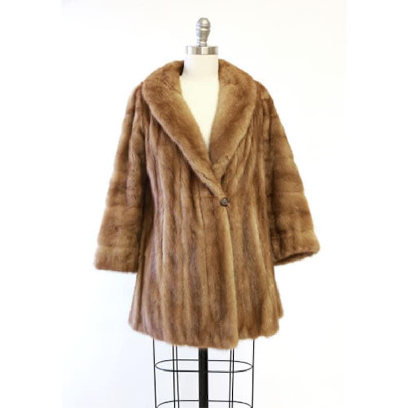 Mink Coat Value >> Aladino Stefani Mink Coat Vintage 50s Autumn Haze Mink Fur Etsy