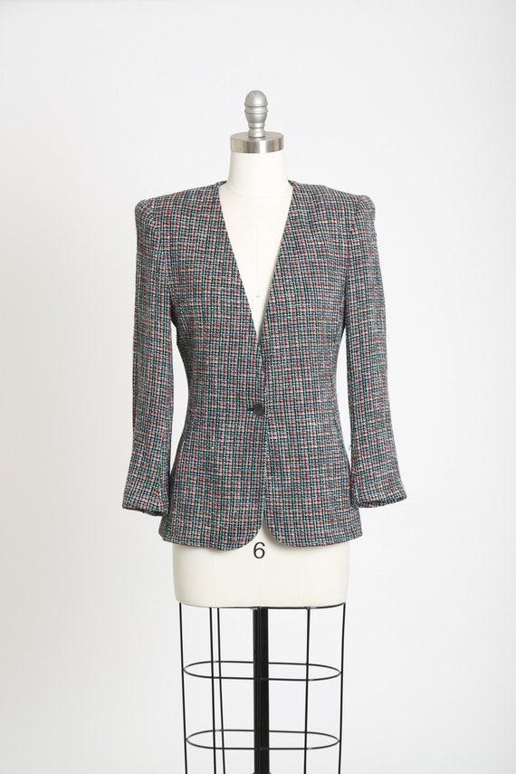 Rainbow blazer | Vintage 90s Liz Claiborne woven r