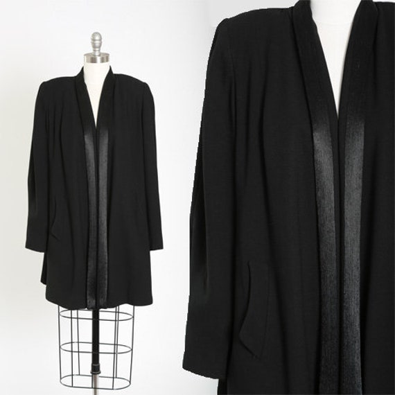 40s Livingston Bros. wool coat | Vintage 40s black