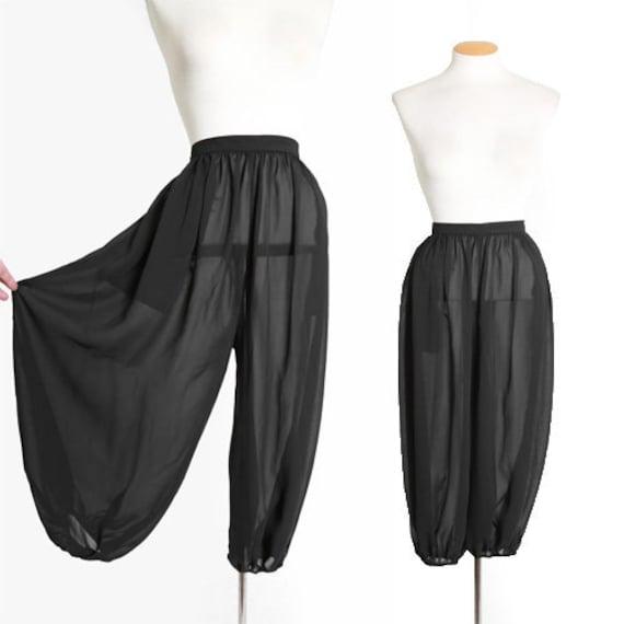 Harem pants | Vintage 60s sheer black harem genie